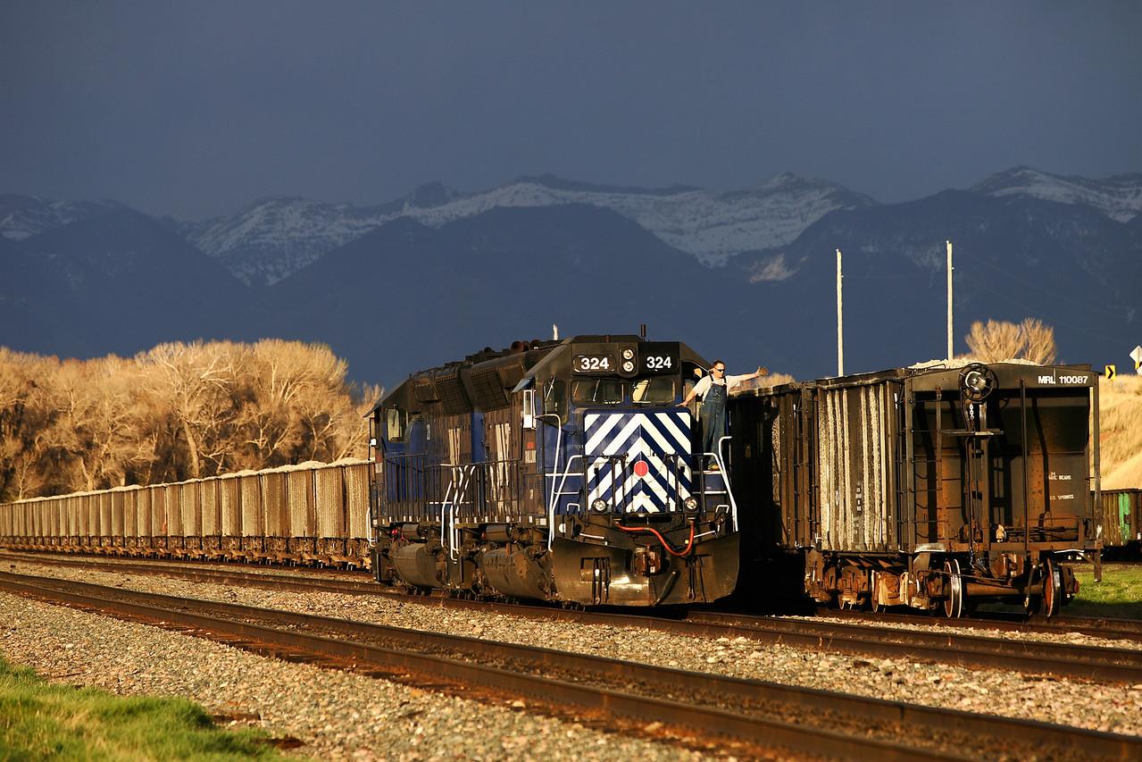 Ballast Train @ Logan, MT