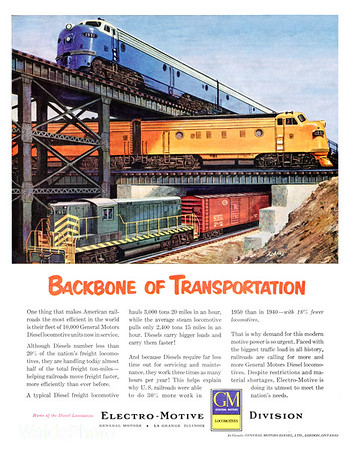 Waide Collection of Vintage Railroad Advertisements 1950 - Present