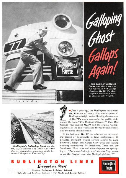 1953 Chicago, Burlington, & Quincy Railroad.