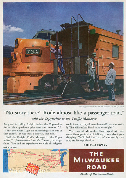 1953 Chicago, Milwaukee, St. Paul & Pacific.