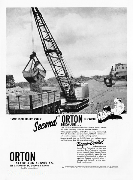 1955 Orton Crane and Shovel Company.