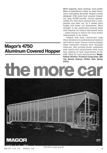 1969 Magor Railcar Division, Fruehauf Corporation.