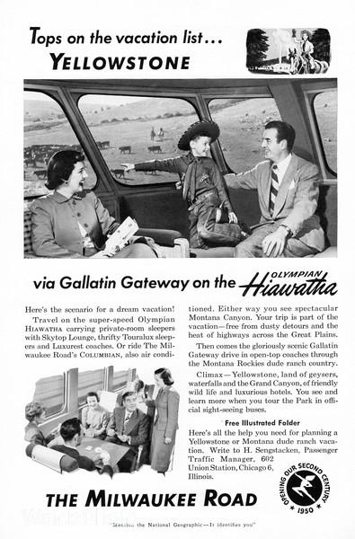 1950 Chicago, Milwaukee, St Paul & Pacific, Milwaukee Road.