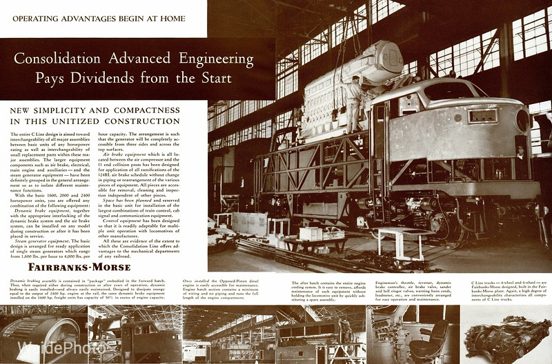 1950 Fairbanks Morse - C Liner Page 2 & 3 of 4.