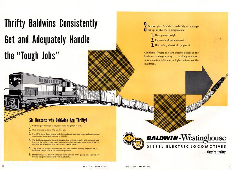 1953 Baldwin-Westinghouse.