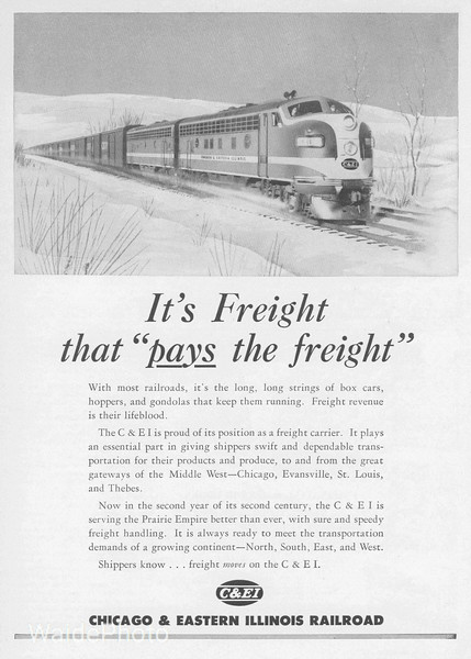 1950 Chicago & Eastern Illinois Railroad.
