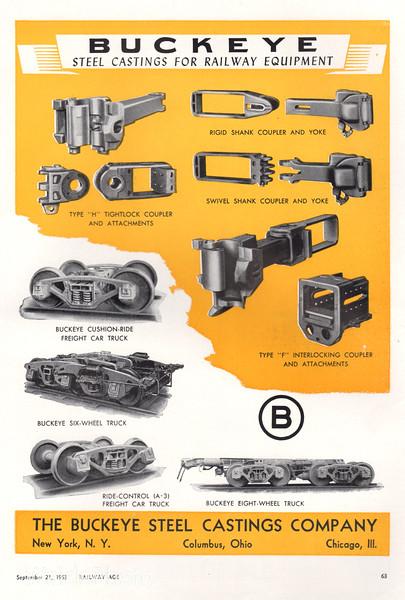 1953 Buckeye Steel Castings.