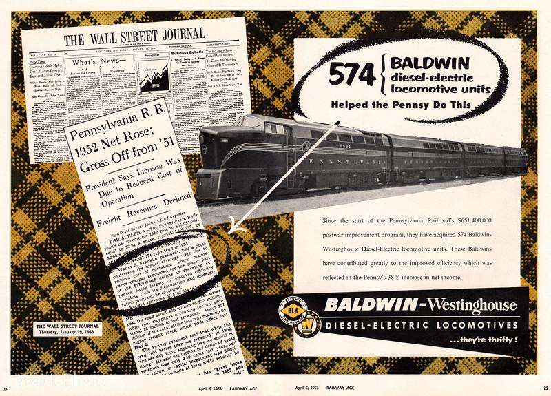 1953 Baldwin-Lima-Hamilton, Westinghouse.