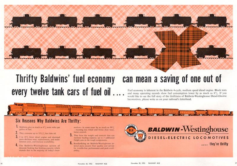 1953 Baldwin Locomotive Works.