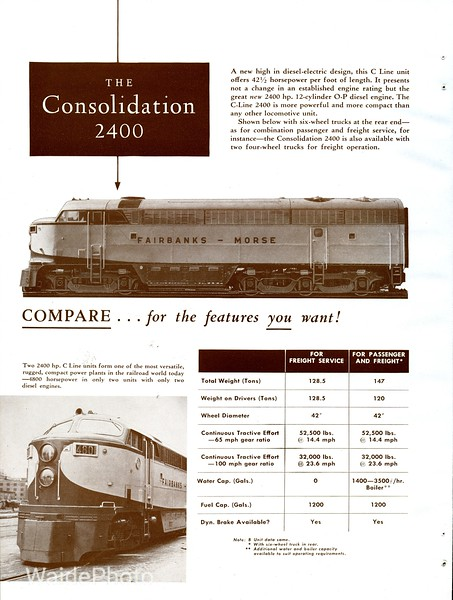 1950 Fairbanks Morse - C Liner Page 4 of 4.