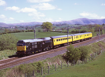 31459 propels a Network Rail test train past Docker 11/5/09.