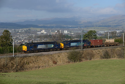 37611 + 37610 approach Oxenholme with the Saturday Sellafield-Crewe working 14/2/15.