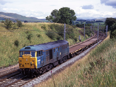 31450 passes Lambrigg crossing with a short engineers train on 25/7/98.