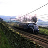 LNER A4 Pacific 60007 Sir Nigel Gresley storms up Shap at Scout Green 18/4/1998.