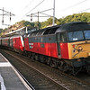 There's been a Shambles!!!!<br /> Running 120 minutes late 47736 Cambridge Traction & Rolling Stock Depot waits to depart Oxenholme with the 15:38 Glasgow-Euston, 11/8/2000.