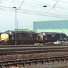 37609 and 37608 stand outside the south end of Kingmoor shed, 9/2/2002.