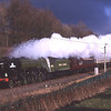 60163 Tornado storms passed Cowperthwaite with the Edinburgh - Euston return leg (day 3 of 3) of The Christmas Coronation tour, 20/11/2010.<br /> This was the last shot I ever took on Kodachrome64.