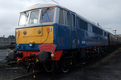 86259 Les Ross at the head of the Manchester Pullman rake.