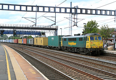 86501 heads the 4L92 14.03 Ditton to Felixstowe Freightliner along the 'up' slow at Rugeley.