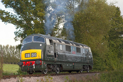 D832 'Onsaught' waits for the raod at Whisky Trail Crossing before working the first service of the day. Sunday 31st August 2014.