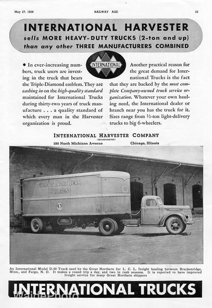 1939 International Harvester Company.