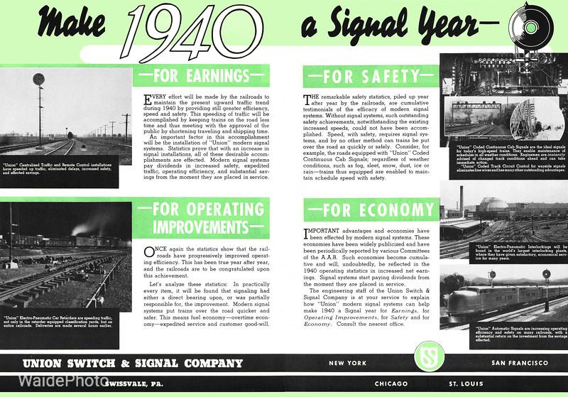 1940 Union Switch & Signal.