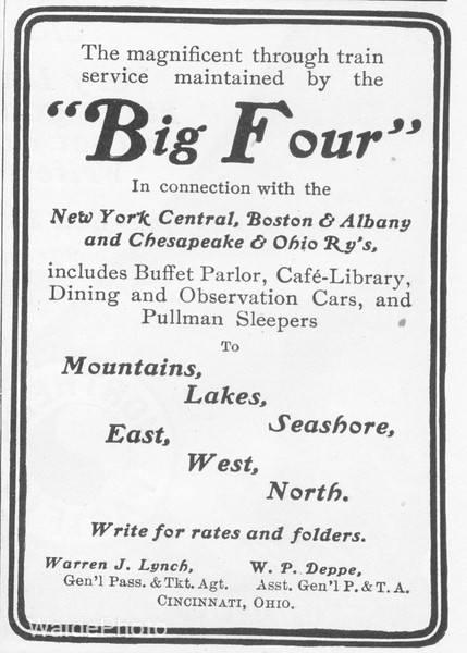1902 Big Four Route, NYC, New York Central, Boston & Albany, Chesapeake & Ohio
