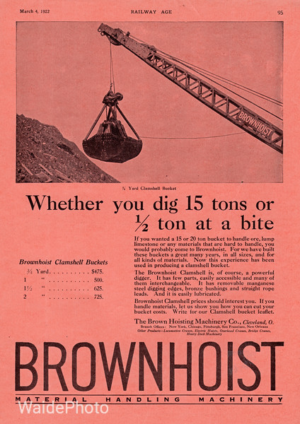1922 Brown Hoisting Machinery Company.