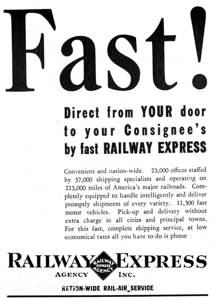 1940 Railway Express Agency.