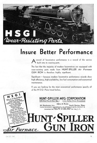 1941 Hunter-Spiller Manufacturing Corporation.
