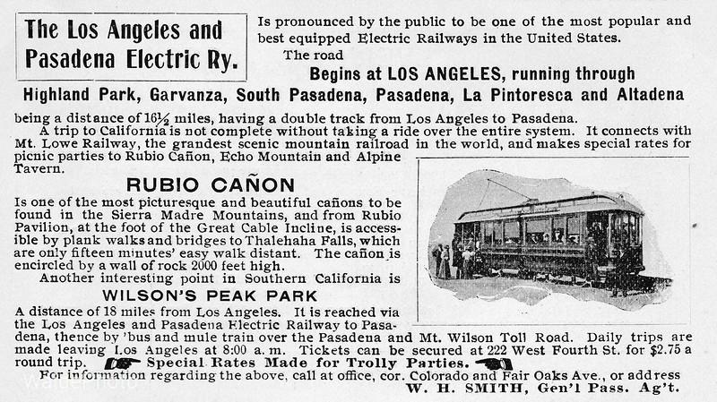 1899 Los Angeles and Pasadena Electric Railway