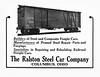 1924 Ralston Steel Car Company.