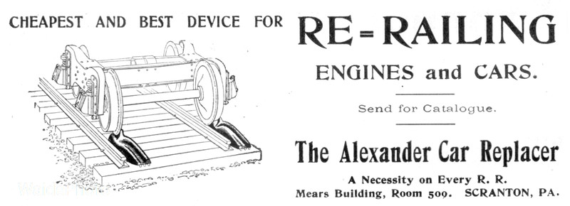 1902 Alexander Car Replacer.