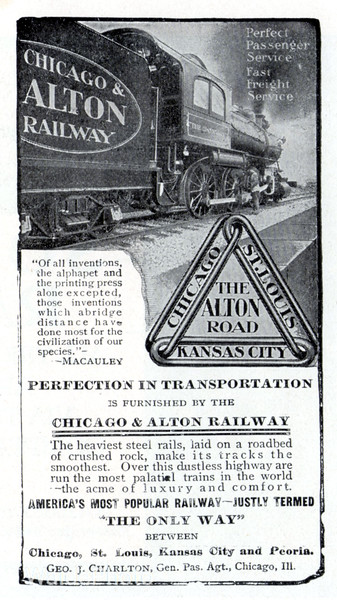 1905 Chicago & Alton Railway.