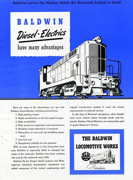 1940's Baldwin Locomotive Works.