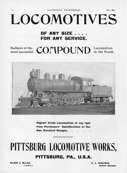 1899 Pittsburg Locomotive Works.