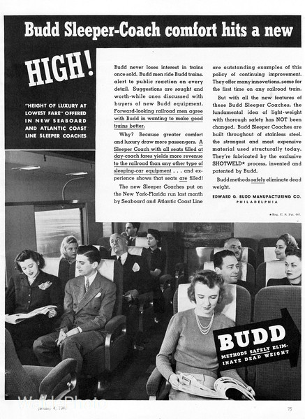 1941 Budd - Sleeper/Coach, Page 1 of 4.
