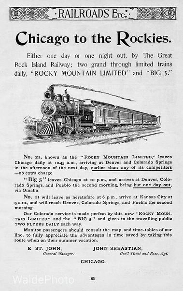 1892 Chicago, Rock Island, & Pacific.