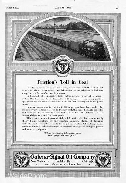 1922 Galena Signal Oil Company.