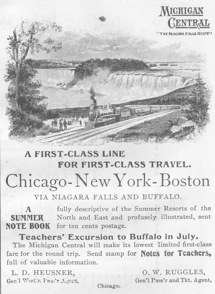1896 Michigan Central.
