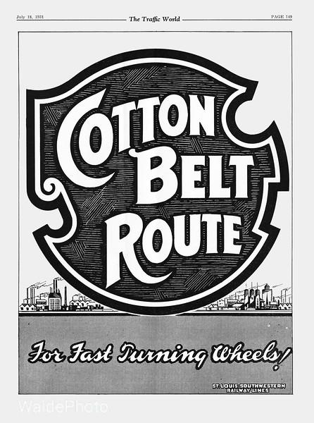 1931 St. Louis Southwestern Railway.