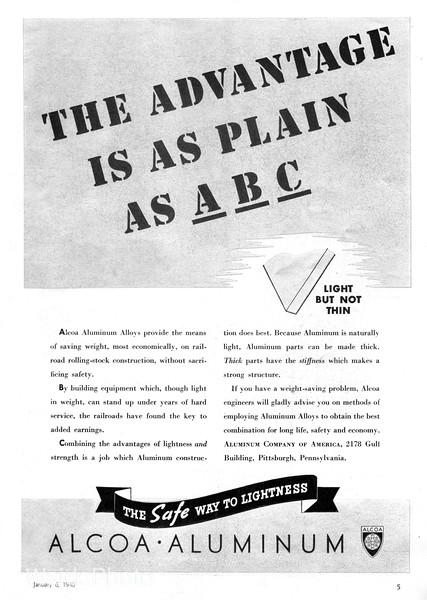 1940 Alcoa - Aluminum Company of America.
