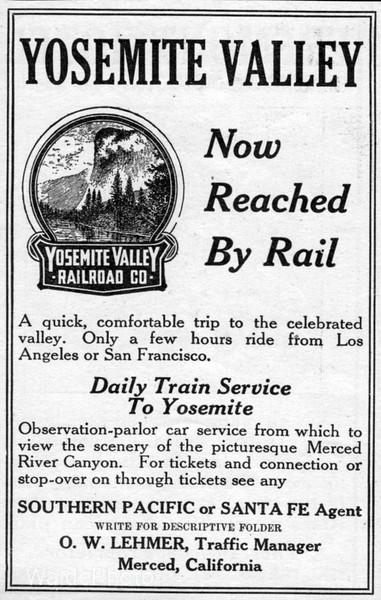 1908 Yosemite Valley RR.