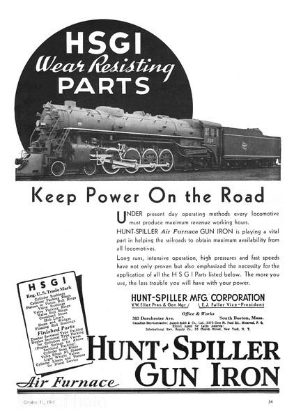 1941 Hunter-Spiller Manufacturing Corporation.