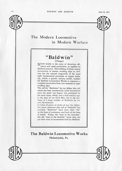 1917 Baldwin Locomotive Works - Page 8 of 8.