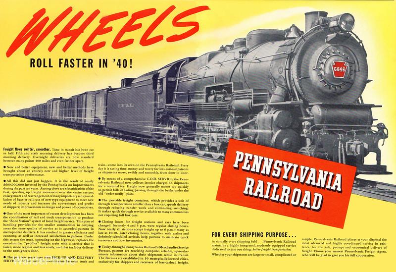 1940 Pennsylvania Railroad.