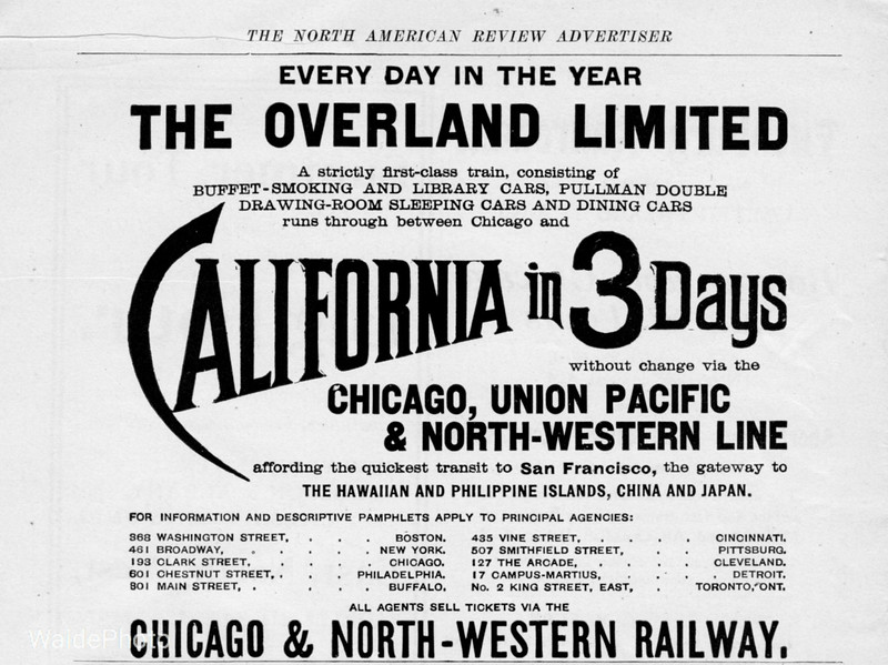 1900 Chicago North Western Railway.