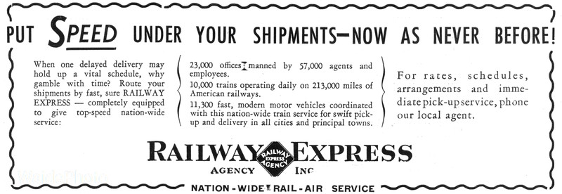 1941 Railway Express Agency.