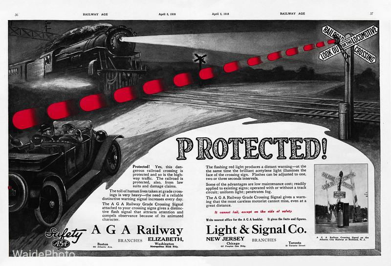1918 AGA Railway Light & Signal Company.