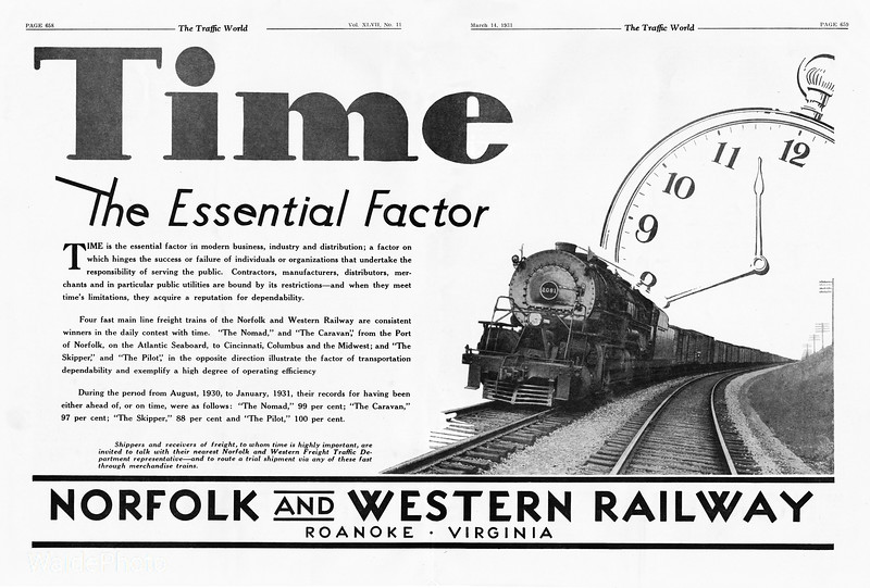 1931 Norfolk and Western Railway.